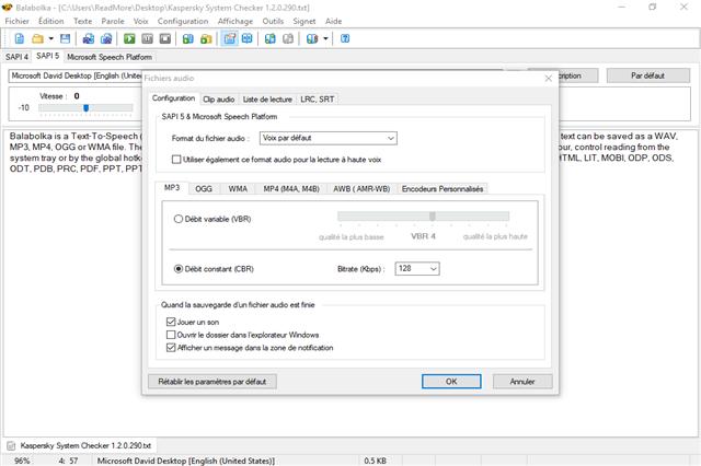تحميل برنامج تحويل النصوص المكتوبة إلى ملفات صوتية مسموعة Balabolka