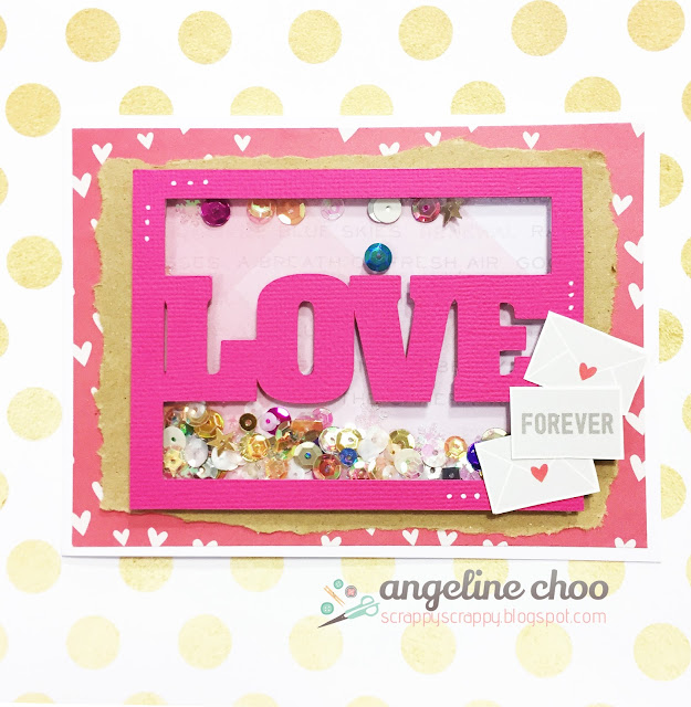 ScrappyScrappy: Love Forever window shaker card with The Cutting Cafe #scrappyscrappy #thecuttingcafe #valentine #love #shakercard #card #cardmaking #papercraft #svg #cutfile