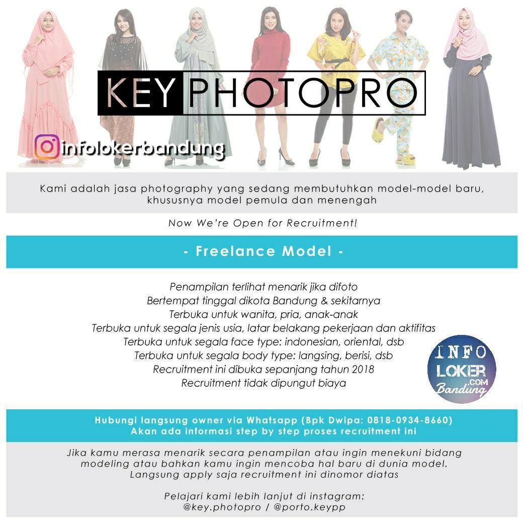Lowongan Kerja Freelance Model Key Photopro Bandung Februari 2018