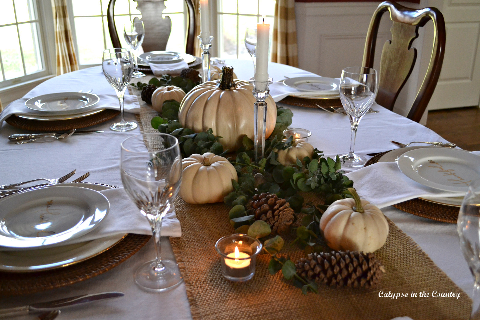 Thanksgiving Table in Dining Room