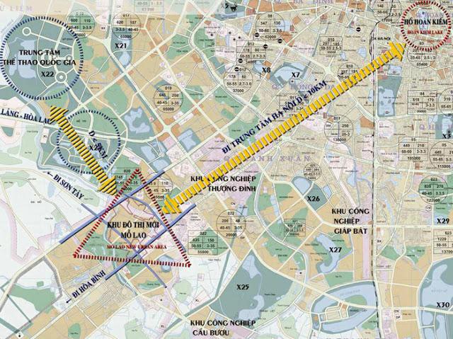 Bản đồ vị trí khu đô thị Mỗ Lao