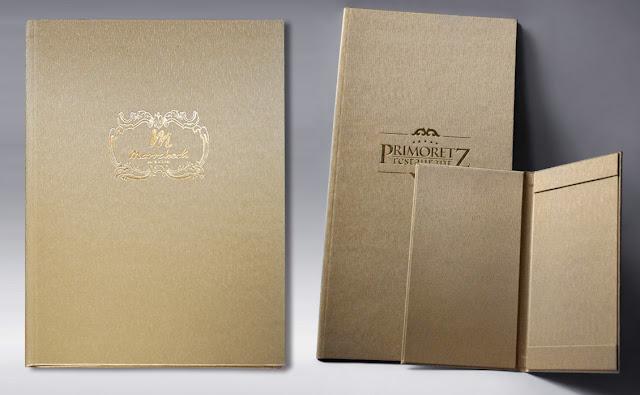 луксозни папки за хотели, луксозни менюта, сметници, хотелски папки, папки за ресторанти, меню за мини-бар, ресторантско хотелско оборудване