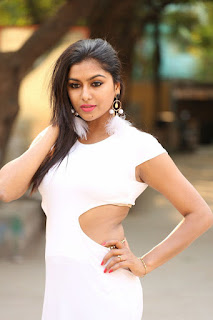 Telegu Actress Sai Aksatha Bold Photoshoot in White Dress
