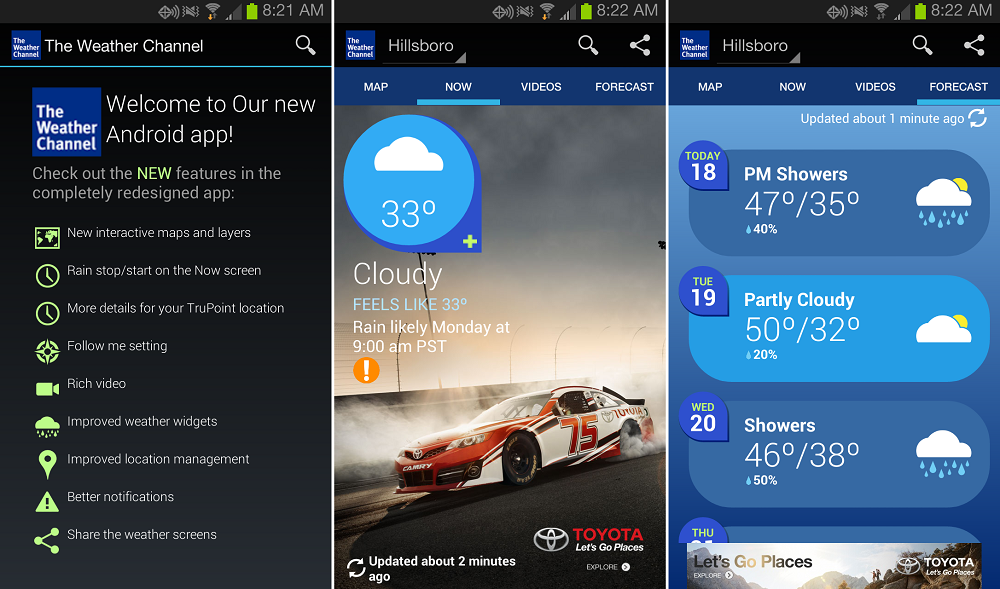 Weather channel android download - 1towatch com