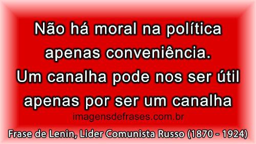 Não há moral na política; apenas conveniência