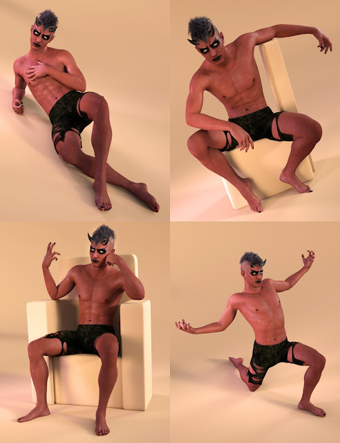 Capsces Poses and Expressions for Damien Demon