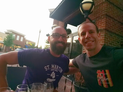 My good college friend and I catching up in Alexandria, Virginia