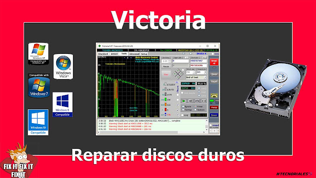 victoria reparar disco duros