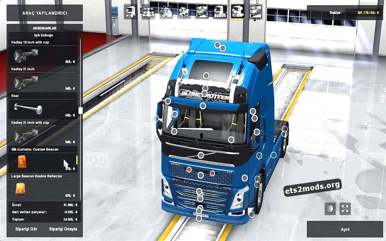 New Accessories + Interior v2 for Volvo 2012