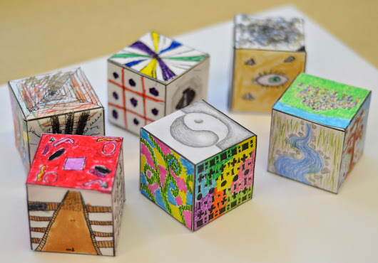 Middle School Art: Elements of Art and Principles of Design Cubes