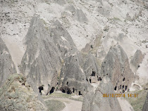 "Tofa pinnacles (""fairy towers"") at Selime, inspiration for Tatooine in original Star Wars movie."