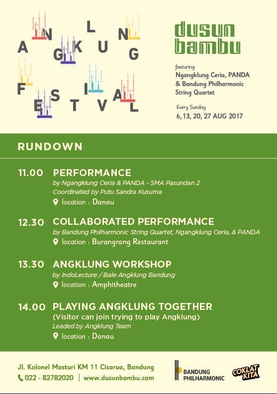 Angklung Festival Setiap Minggu Hadir di Dusun Bambu