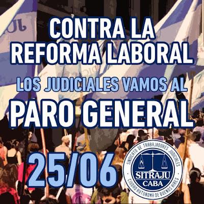 El Poder Judicial porteño estará paralizado, este lunes 25 de junio, como consecuencia del paro nacional