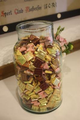 Candy jar, Hochzeitsmotto aus M wird M, Pastell und Vintage im Riessersee Hotel Garmisch-Partenkirchen, Bayern