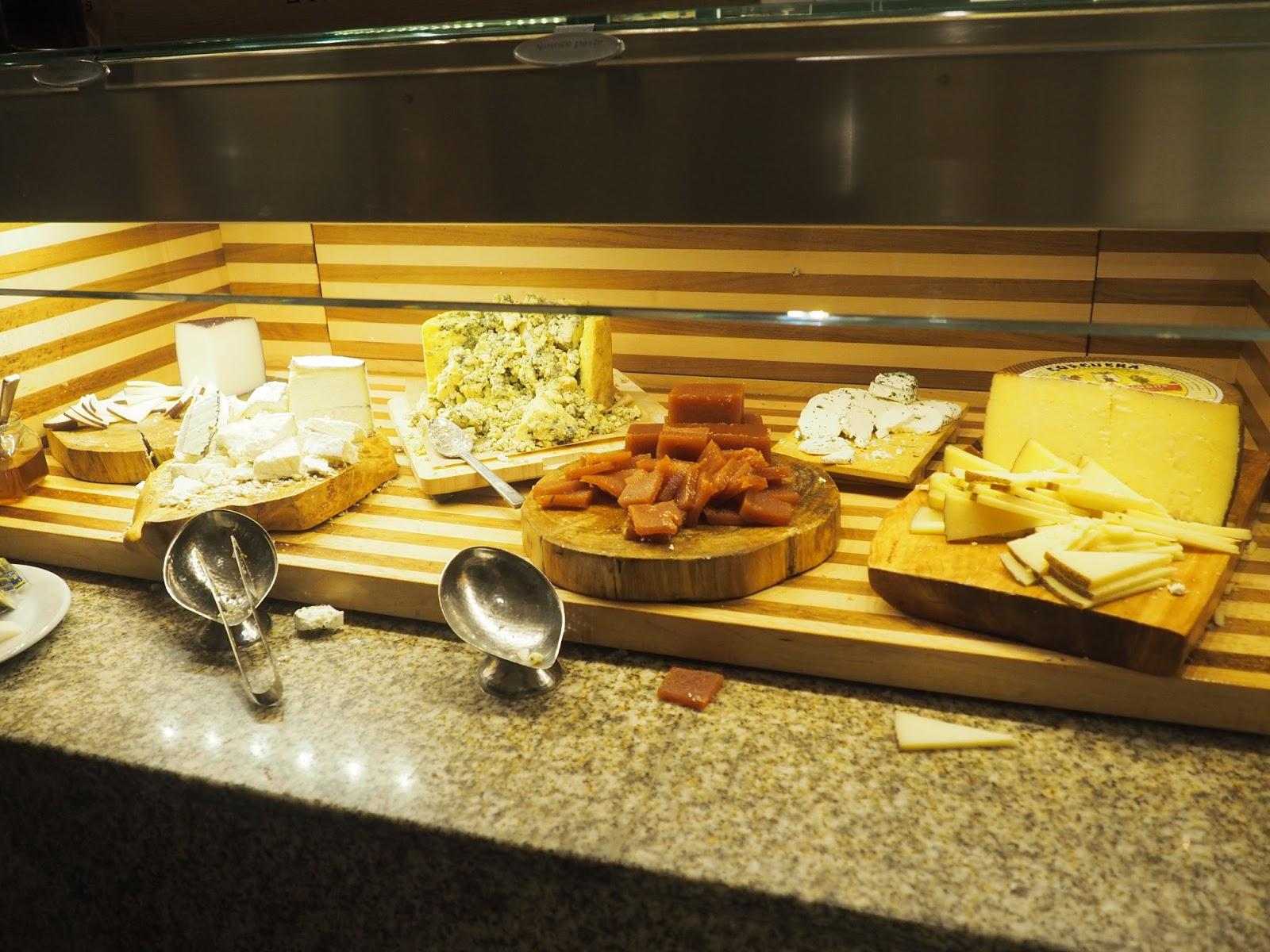 Cheese at Baachanal Buffet at Caesar's Palace, Las Vegas