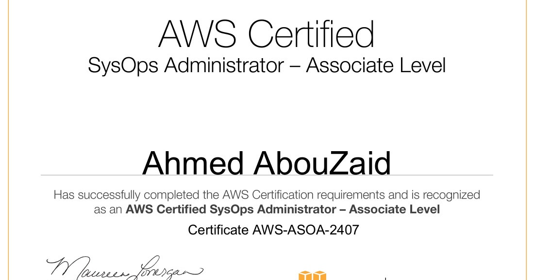 I Just Got My Aws Sysops Administrator Certification Ahmed Abouzaid