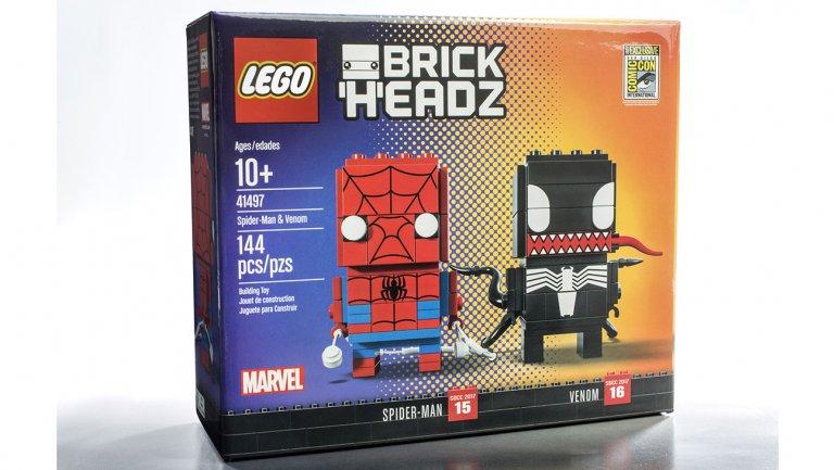 bfbb939161f31 SDCC 2017 Exclusive Spider-Man & Venom BrickHeadz Box Set by LEGO x Marvel