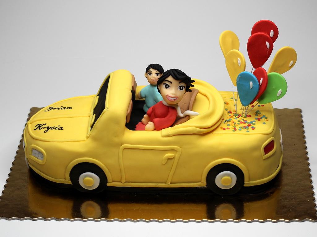 Birthday Car Cake With Name