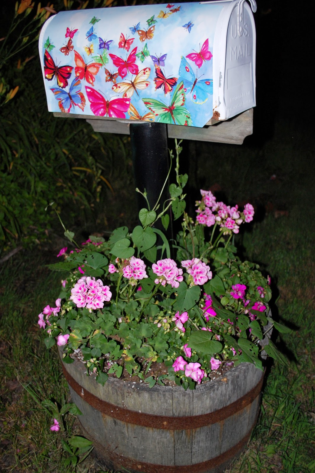 Sprouts Mailbox Planter Makeover Before And After