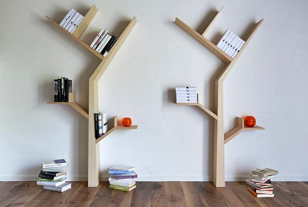 Kumpulan Gambar Rak Buku Dinding Minimalis Kreatif Dan Modern - Rak Buku Minimalis Berbentuk Pohon