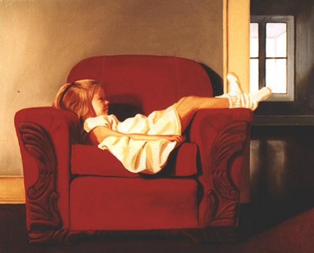 Solitude | Rachel Ferguson - American Figurative painter