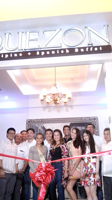 owners of quezon buffet, Ribbon Cutting with the people behind Quezon Buffet, Yul Servo, Bobby Yan, and beauty queens.