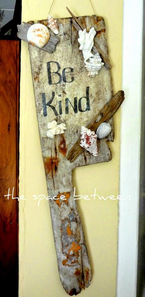 DIY Driftwood Plank Sign