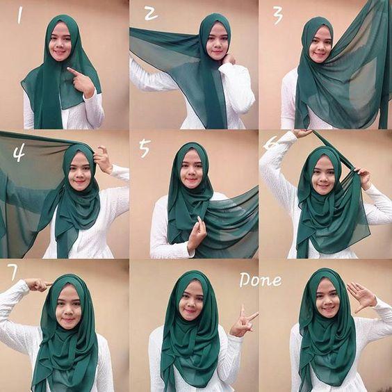 7+ Cara Pakai Tudung Bawal Seperti Shawl Untuk Hari Raya