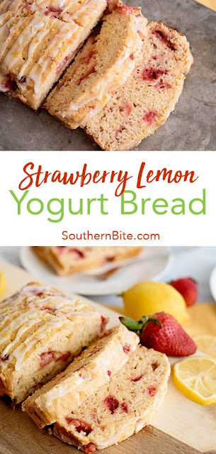Strawberry Lemon Yogurt Bread