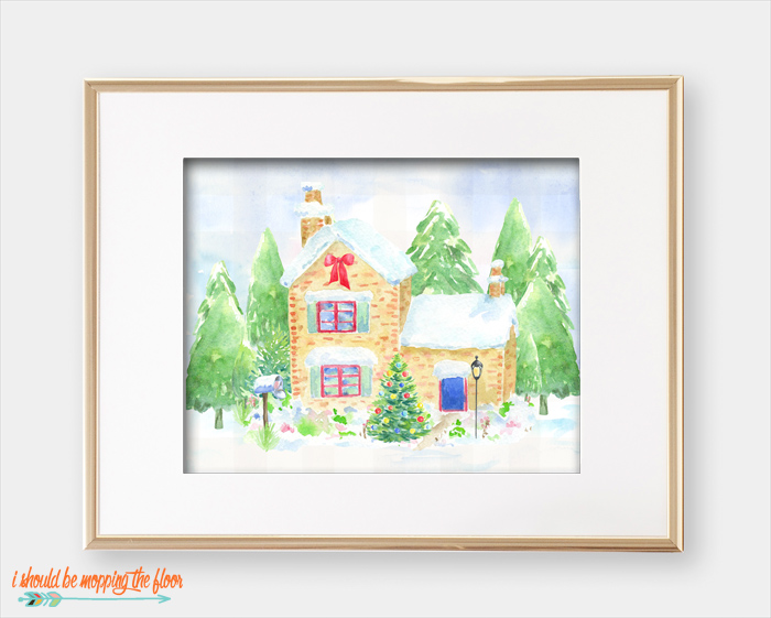 Christmas Village Printables