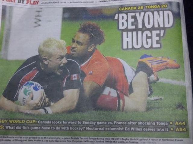 A misplaced quote on a Rugby image