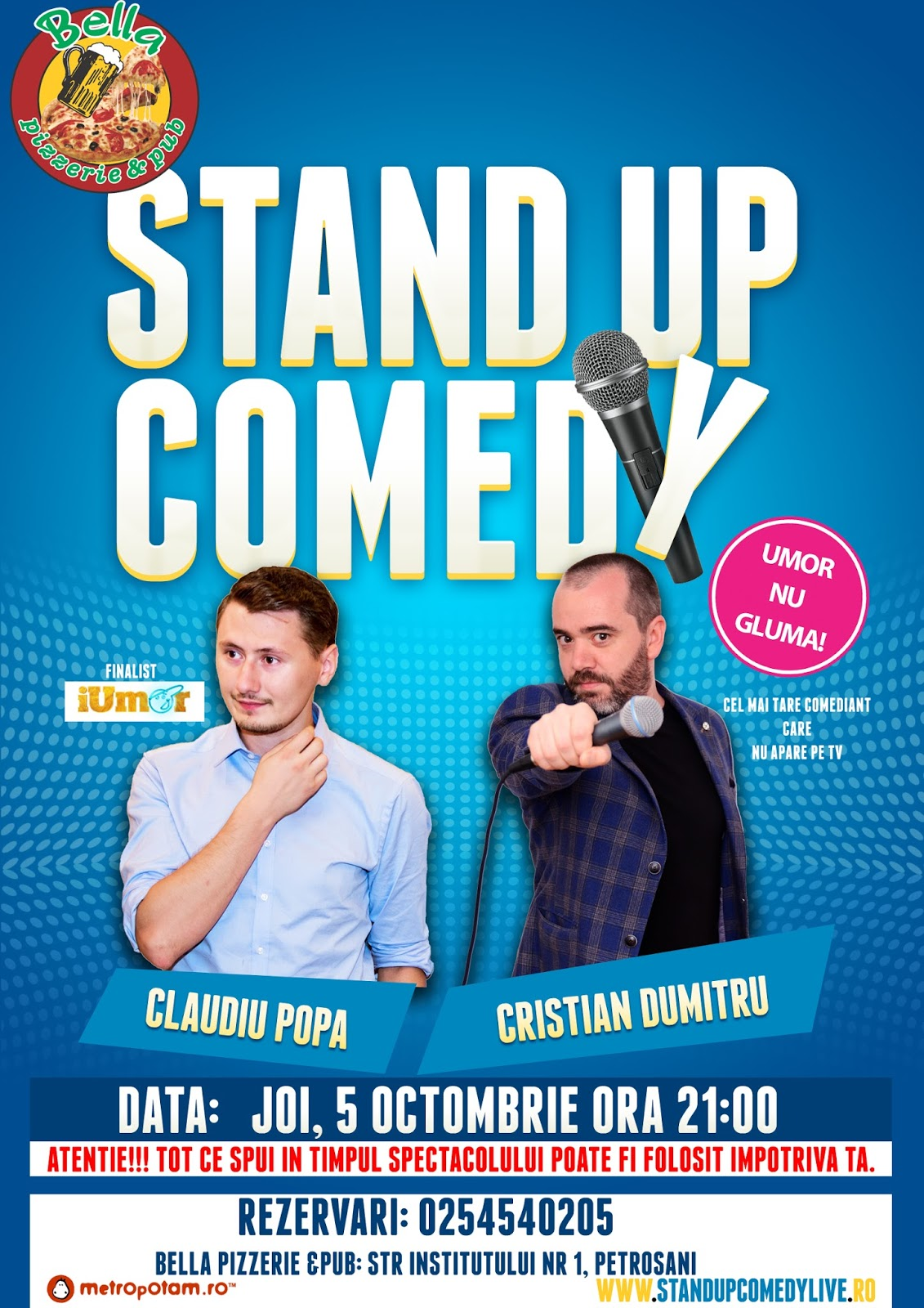 Stand-Up Comedy Petrosani Joi 5 Octombrie