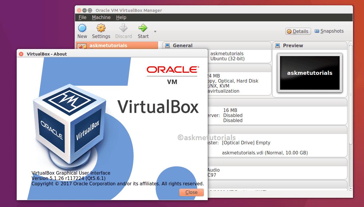 Install Oracle Virtualbox 5.1.26 On Ubuntu 17.04  / LinuxMint
