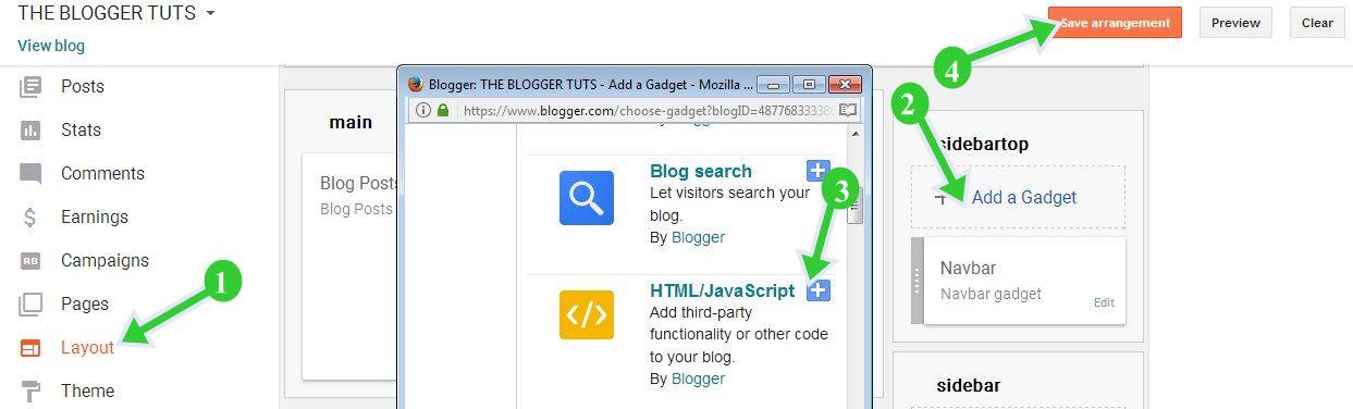 Blogger Blog Me Twitter Follow Button Widget Kaise Lagaye