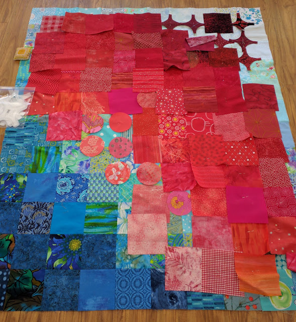 Circular Anomaly quilt in progress