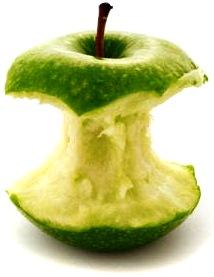Foto de una manzana casi terminada