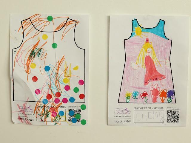 vêtement personnalisé par des enfants
