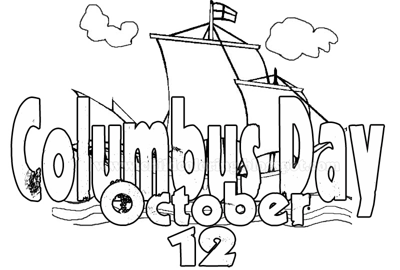 Coloring Page Columbus Day ~ Child Coloring