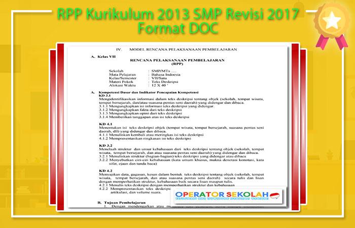 RPP Kurikulum 2013 Revisi 2017 SMP