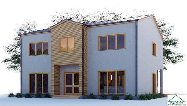 merupakan kebutuhan pokok setiap manusia Denah Model Desain Gambar Rumah Minimalis Idaman Modern Tipe 383