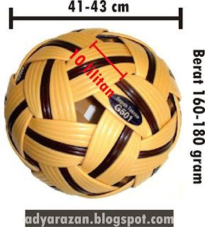Olahraga sepak takraw adalah olahraga memainkan bola kecil yang dimainkan oleh  Ukuran Lapangan, Tiang dan Jaring Net serta Bola Sepak Takraw Lengkap dengan Gambarnya