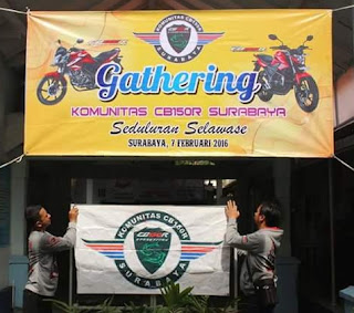Gathering Komunitas CB150R Surabaya 2016, Eratkan barisan anggota