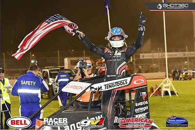 Kyle Larson Wins Midget Race in New Zealand