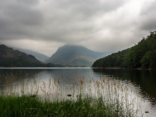 Photo of cloudy skies over Lake Buttermere in the Lake District