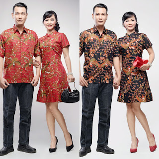 Baju Batik Couple Dress Fushimi
