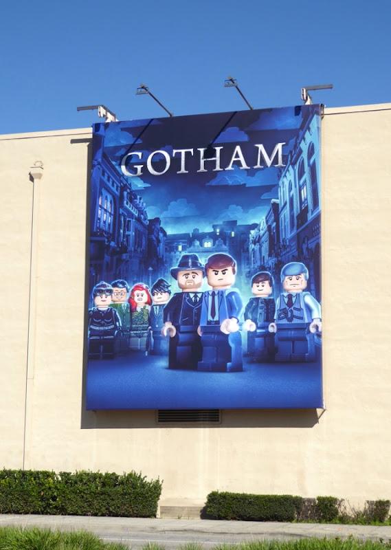 Gotham Lego billboard WB Studios