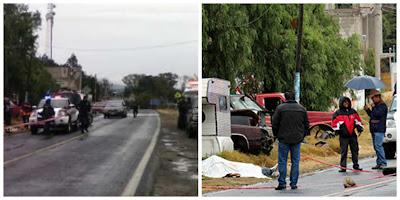 Asesinan a dos sujetos con armas de alto poder en carretera federal México-Puebla