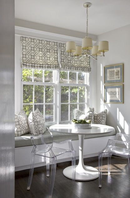 eat in kitchen window bench acrylic chairs