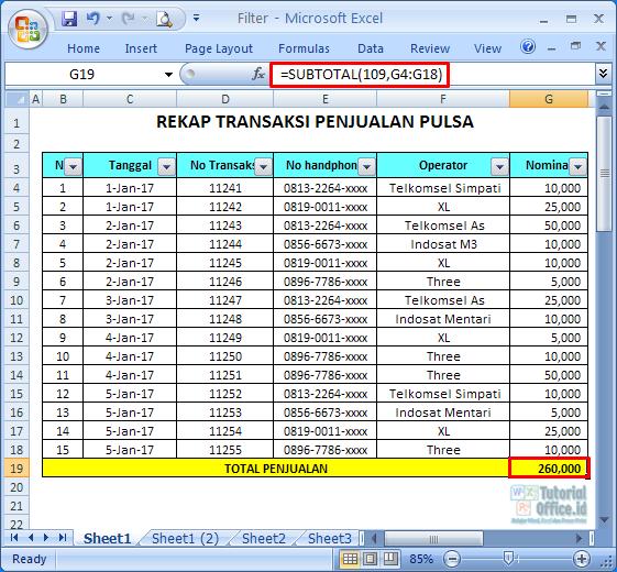 Tips Filter Excel