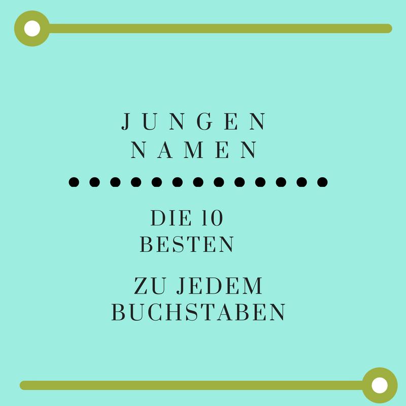 10 Jungennamen Zu Jedem Buchstaben Aktualisiert April 2019 3